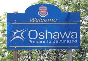 Oshawa   Welcome to Oshawa Sign